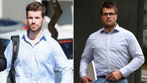 Gable Tostee in September 2015 (left) and during his trial in October 2016. Tostee was acquitted of murdering NZ tourist Warriena Wright after she fell to her death from the balcony of his Surfers Paradise apartment. (AAP)