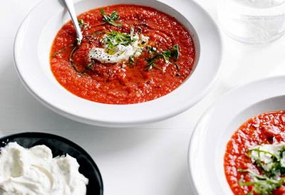 Chilled spiced tomato soup