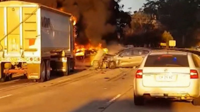 Driver 'devastated' after fiery truck crash