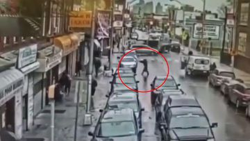 CCTV showed the moment the attackers left a van and entered the market while firing.