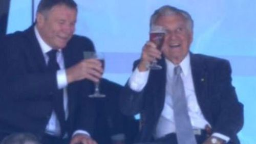 Bob Hawke has been known to down a beer at the cricket.