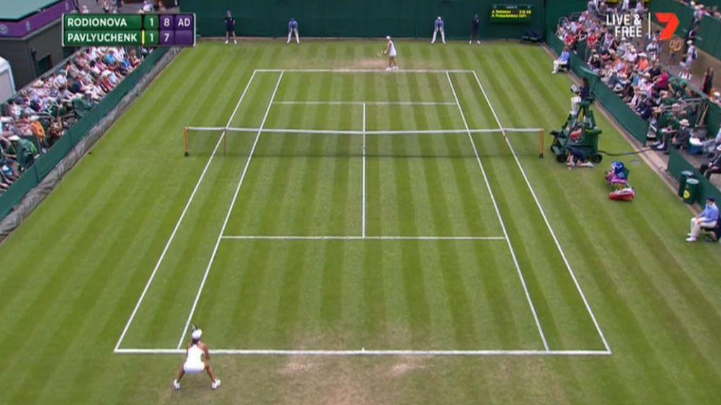 Rodionova lone Aussie at Wimbledon