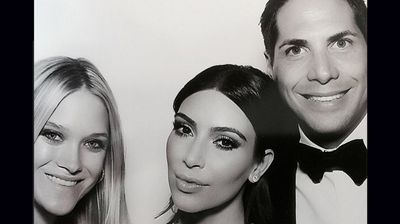 Kim and 'Girls Gone Wild!' founder Joe Francis and his girlfriend Abbey Wilson (Instagram).