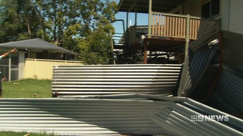 Significant damage has been dealt to properties in the southeast of Queensland after last night's freak thunderstorm (Supplied).