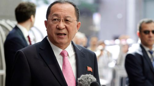 """North Korean Foreign Minister Ri Yong-ho said Donald Trump """"declared war"""" on his country. (AAP)"""