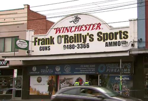 Four men stormed the Thornbury store wearing balaclavas. (9NEWS)