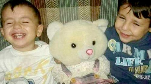Alan Kurdi (left) and his older brother, Ghalib, died when their dinghy sank off the coast of Turkey. (Qattouby/Twitter)