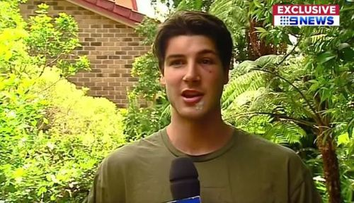 The 19-year-old boy was knocked unconscious. (9NEWS)