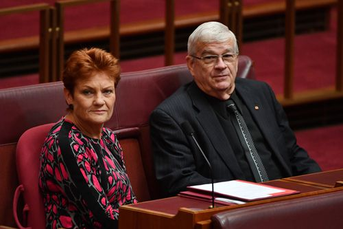 """Senator Burston will continue in the Senate as an independent senator after his relationship with Hanson became """"irrevocable"""". Picture: AAP."""
