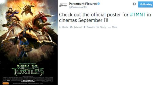 Ninja Turtles poster with 9/11 insinuations deleted from Twitter
