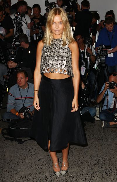 Lara Bingle at the Ellery show for Mercedes-Benz Fashion Week Australia in Sydney, May, 2012