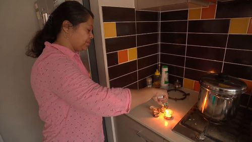 In Wahroonga in Sydney's north, mother of two Prati TP is flat out boiling water to provide food and baths for her family.