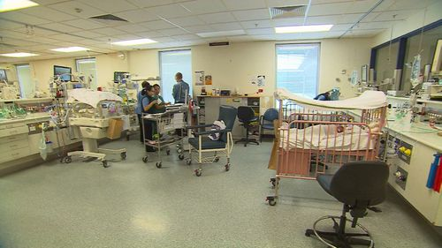 Once the babies are out of the old ward, work will commence to turn that space into a family room, staff offices and parent accommodation. Picture: 9NEWS