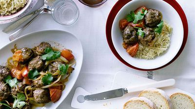 "Recipe: <a href=""http://kitchen.nine.com.au/2016/05/19/10/48/lamb-meatballs-with-lebanese-rice"" target=""_top"">Lamb meatballs with Lebanese rice</a>"