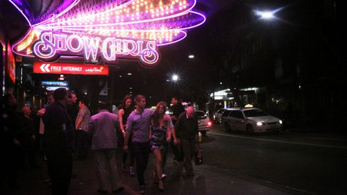 Sydney's notorious Kings Cross party strip will have its pub lockout regulations lifted for one night only. (AAP)