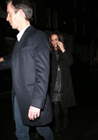 Pippa Middleton and James Matthews at Princess Beatrice and Edoardo Mapelli Mozzi engagement party at Chiltern Firehouse London