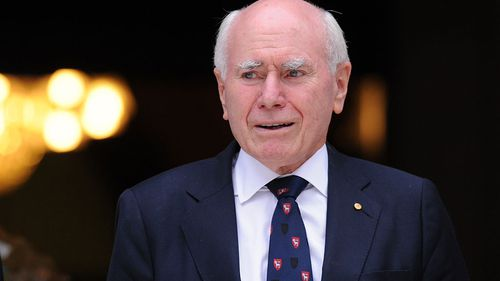 Former Prime Minister John Howard was at the memorial. (AAP)