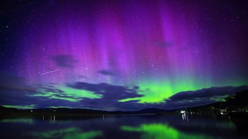 A spectacular aurora previously seen from Mt Nelson in Tasmania.