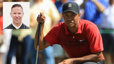 Tiger Woods and Sean Foley (inset)