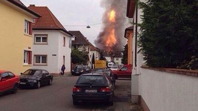 Local Pascal Widder took this picture at the incident in Ludwigshafen. (Twitter - @fussballundson)