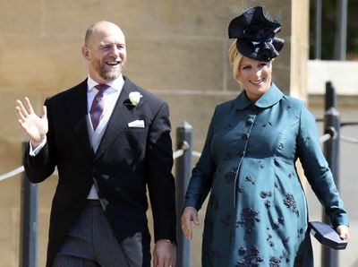 Zara and Mike attend Harry and Meghan's wedding, 2018