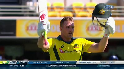 Aaron Finch notches back-to-back ODI tons