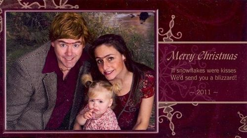 Couple's very awkward annual Christmas cards go viral