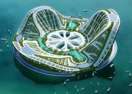 Some have suggested cities and suburbs built on the ocean could be the way of the future.