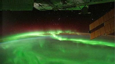 The Southern Lights from space. (Twitter)
