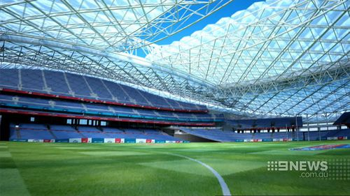 A retractable roof with a see-through ceiling would allow the sun to shine in. (9NEWS)