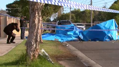 Witness video, shared to 9NEWS, showed the crumpled plane fully-alight in the middle of the street. Picture: AAP