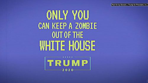 A screenshot of the final message from the 'How to Spot a Zombie: Joe Biden edition'.
