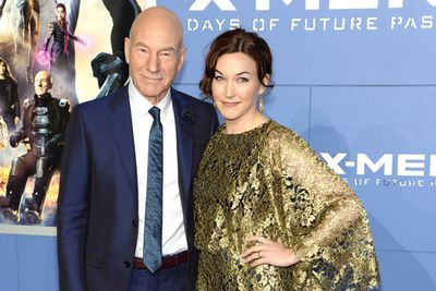 Patrick Stewart, who plays Professor X, with his wife Sophie.