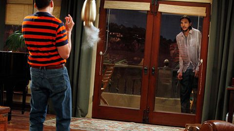 Ashton's Two and a Half Men debut scores record ratings