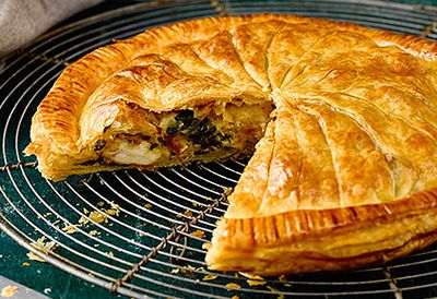 Chicken, spinach and ricotta pithiviers