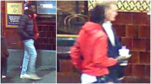 Police are looking to speak to the man pictured in a black and red jacket. Picture: Victoria Police