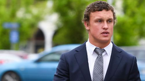Canberra Raiders player Jack Wighton has been sentenced over a late-night rampage in February.