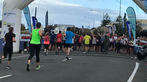 A half marathon is usually 21km. For some unknown, awful reason, The GOR run is 23km — and really, really hilly. (9NEWS)