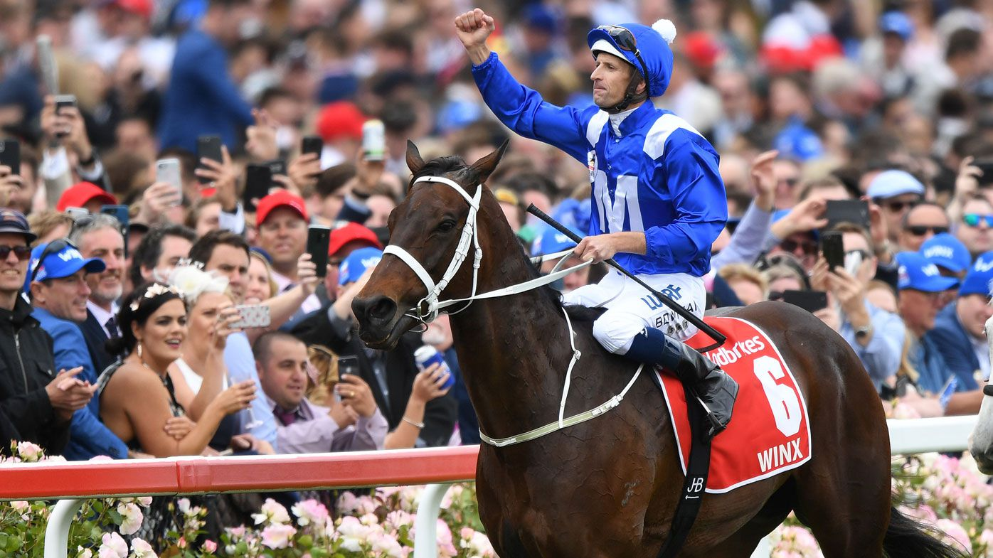 Winx named world's joint-best horse in London, sharing honours with English star Cracksman