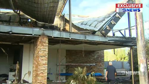 A Perth grandfather is warning families to know their fire escape plan, after a ferocious blaze tore through his Mullaloo home.