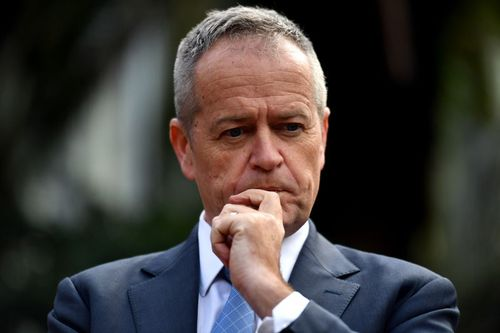 """Mr Turnbull said his Labor opponent was beholden to his """"union pay masters"""". Picture: AAP"""