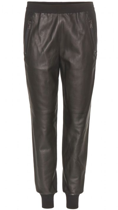 "<p><a href=""http://www.mytheresa.com/en-au/leather-and-jersey-track-pants.html"" target=""_blank"">Leather and Jersey Track Pants, $879, Vince from My Theresa</a></p>"