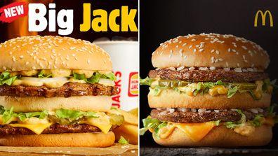 Hungry Jack's new Big Jack Burger / McDonald's Big Mac burger