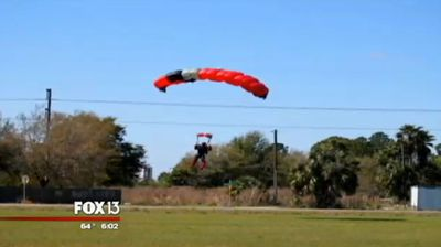Everything seemed to be going smoothly for skydiver John Frost.