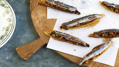 """Recipe: <a href=""""http://kitchen.nine.com.au/2016/05/13/13/44/anchovy-and-silverbeet-on-toast"""" target=""""_top"""">Anchovy and silverbeet on toast</a>"""