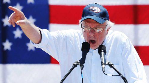 Bernie Sanders speaks at a rally. (AAP)
