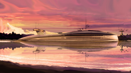 Yacht designer Uros Pavasovic says he came up with the yacht concept after seeing the huge numbers of aircraft retired during the pandemic.