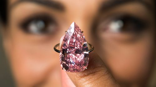 'Unique Pink' diamond sells for record price of $42.8 million