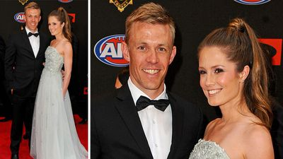 Nathan Van Berlo and Jessica Holtham were all smiles. (AAP)