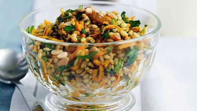 <strong>Carrot and barley salad with dates and raisins</strong>